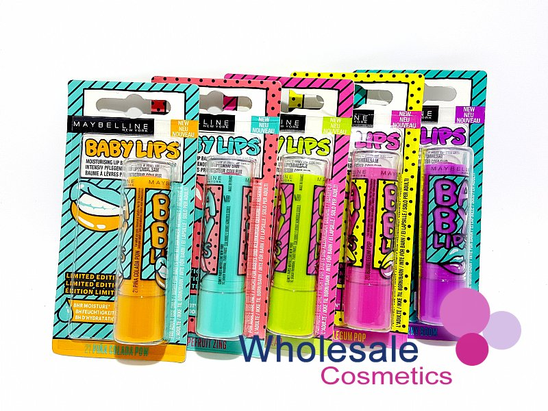 24 x Maybelline Baby Lips Lip Balm Limited Edition - ASSORTED