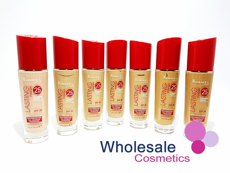 15 x Rimmel Lasting Finish 25Hr Foundation With Comfort Serum - ASSORTED