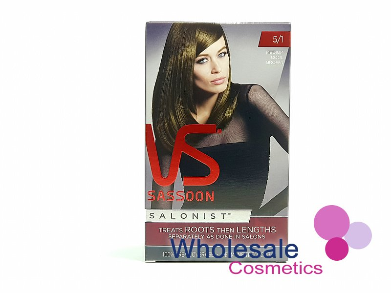 12 x Vidal Sassoon Salonist Permanent Hair Colour 5/1 MEDIUM COOL BROWN
