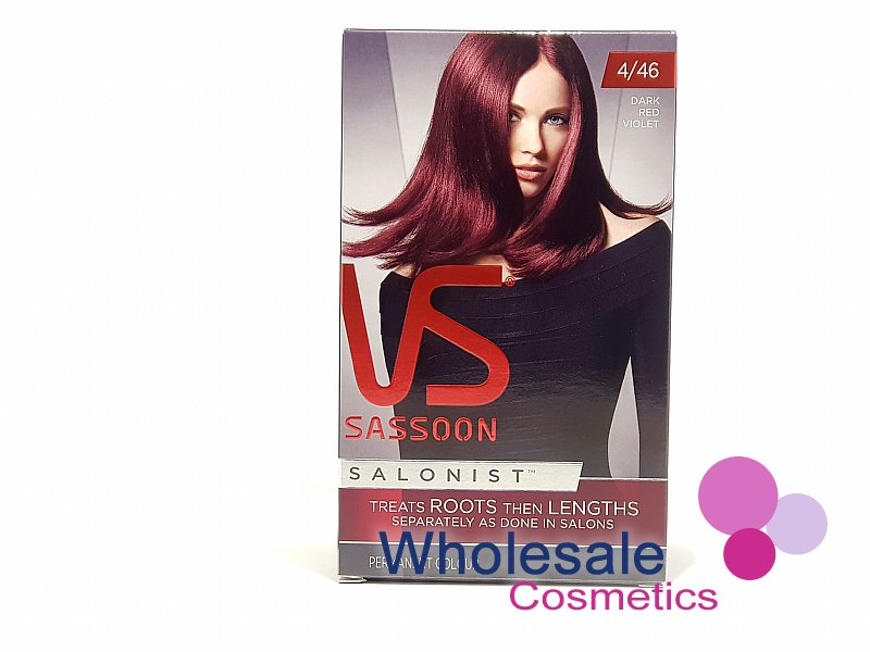 12 x Vidal Sassoon Salonist Permanent Hair Colour 4/46 DARK RED VIOLET