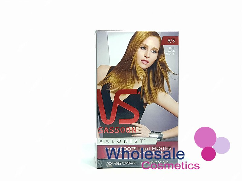 12 x Vidal Sassoon Salonist Permanent Hair Colour 6/3 LIGHT GOLD BROWN