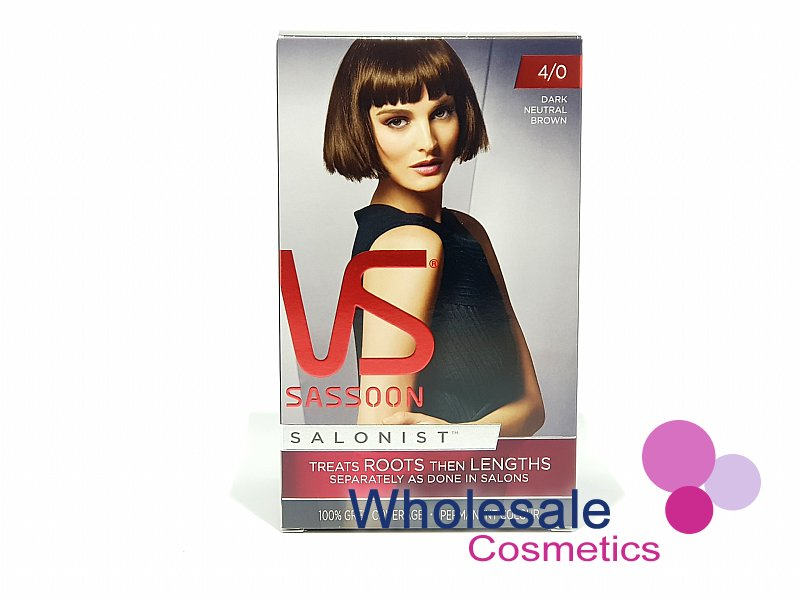 12 x Vidal Sassoon Salonist Permanent Hair Colour 4/0 DARK NEUTRAL BROWN