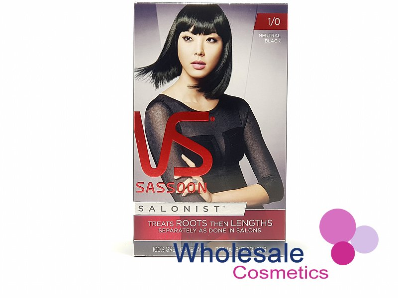 12 x Vidal Sassoon Salonist Permanent Hair Colour 1/0 NEUTRAL BLACK
