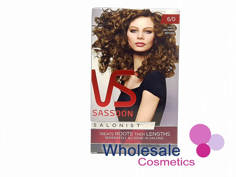 12 x Vidal Sassoon Salonist Permanent Hair Colour 6-0 LIGHT NEUTRAL BROWN