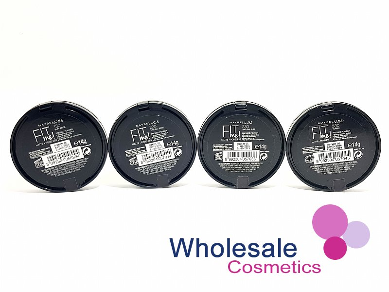 18 x Maybelline Fit Me Matte & Poreless Powder Foundation - ASSORTED