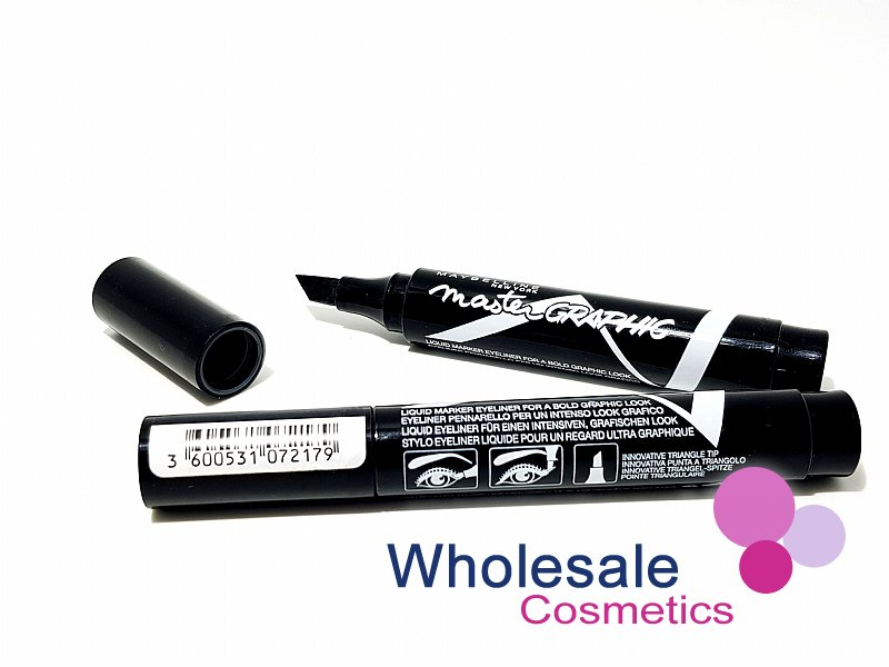 12 x Maybelline Master Graphic Liquid Eyeliner - Black