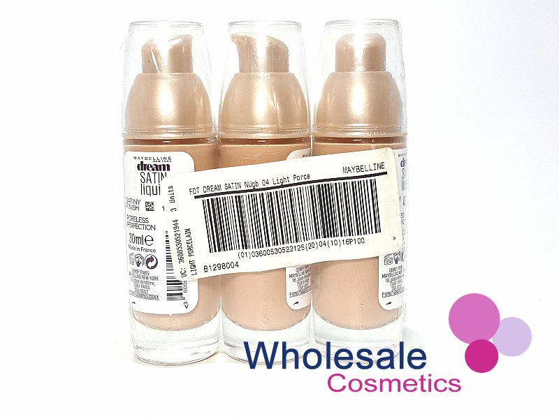 12 x Maybelline Dream Satin Liquid Foundation - Light Porcelain