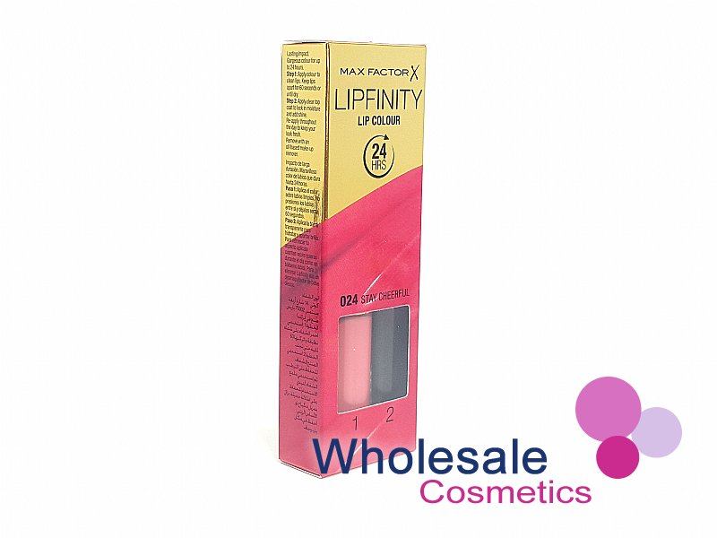 12 x Max Factor LipFinity Lip Colour - 024 Stay Cheerful