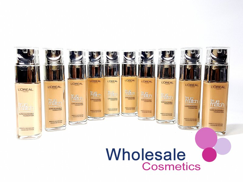 18 x L'Oreal True Match Super-Blendable Foundation (30 ml) - ASSORTED