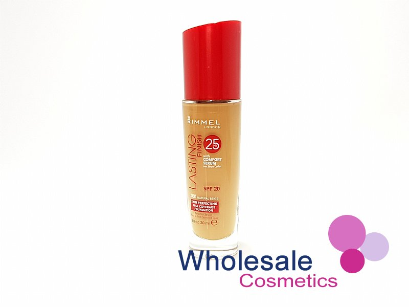 12 x Rimmel Lasting Finish 25Hr Foundation With Comfort Serum - 400 Natural Beige