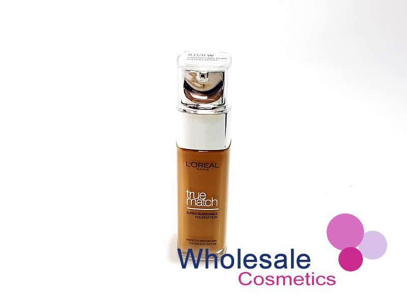 12 x NEW L'Oreal True Match Super-Blendable Foundation (30 ml) - W8 Golden Cappucino