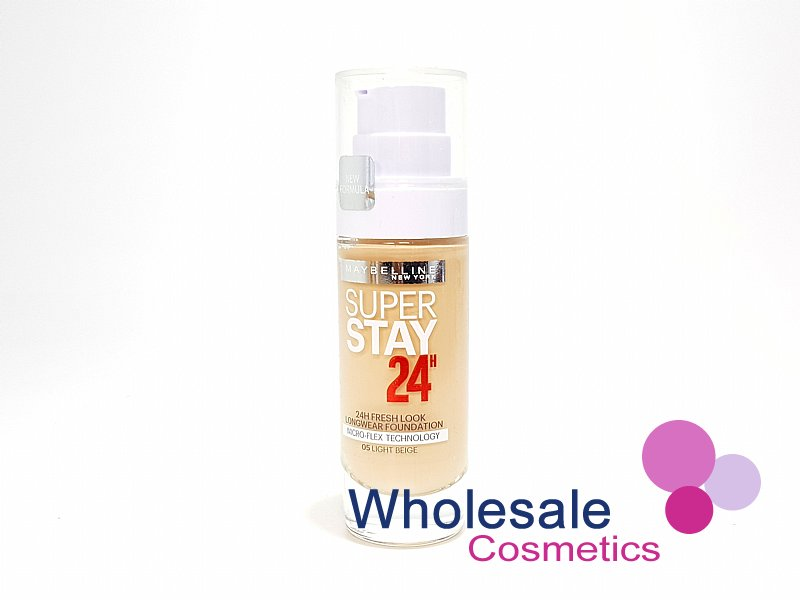12 x Maybelline SuperStay 24Hr Fresh Look Foundation - 05 Light Beige