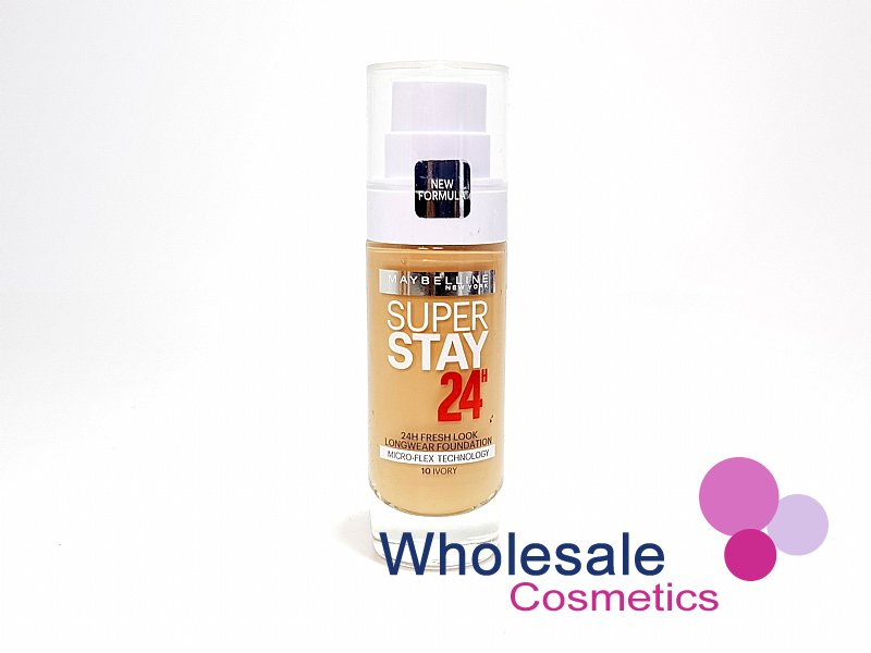 12 x Maybelline SuperStay 24Hr Fresh Look Foundation - 10 Ivory