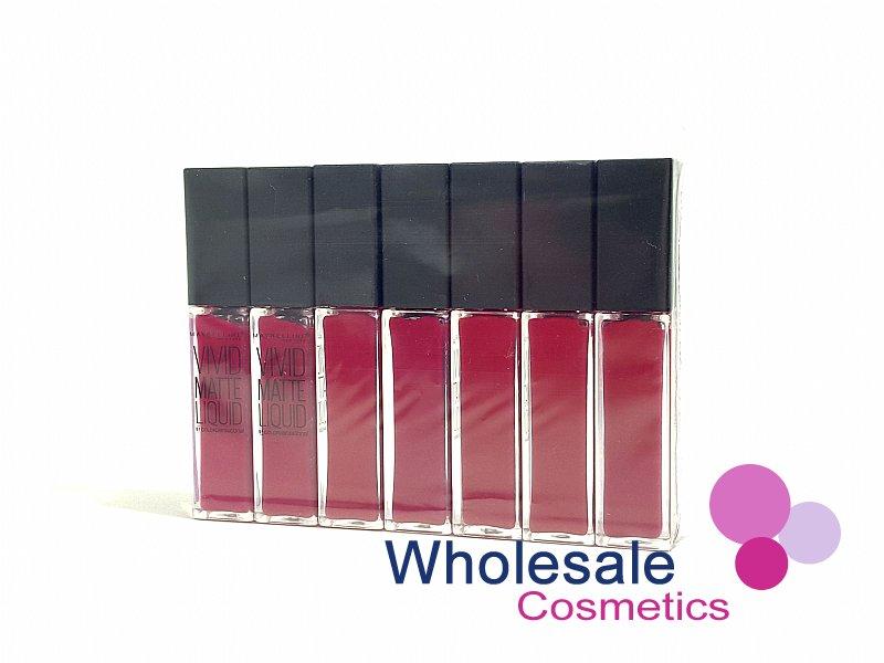 wholesale cosmetics 7 x maybelline vivid matte liquid lip gloss 40 berry boost. Black Bedroom Furniture Sets. Home Design Ideas