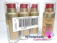 18 x L'Oreal Visible Lift Serum Inside Pump Foundation - 130 Golden Beige