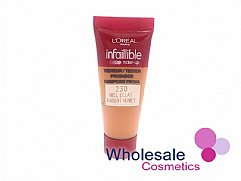 36 x L'Oreal Infallible 230 Radiant Honey Foundation - 10ml Tester