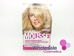 6 x L'Oreal Sublime Mousse Hair Colour - 913 Exquisite Light Beige Blonde