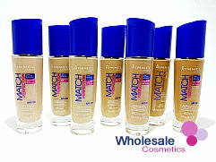 15 x Rimmel Match Perfection 24Hr Foundation - ASSORTED