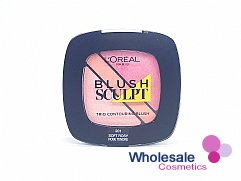12 x L'Oreal Infallible Blush Sculpt Trio Contouring Blush - 201 Soft Rosy