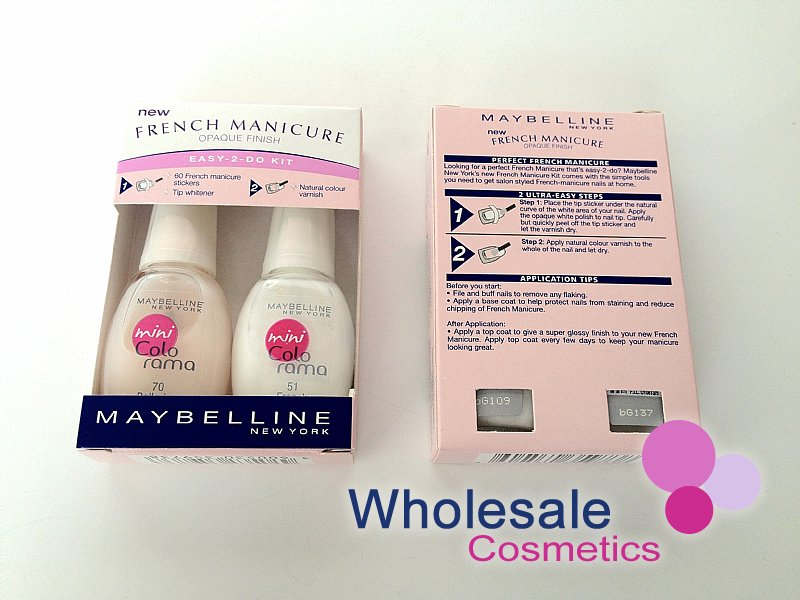 12 x Maybelline Colorama French Manicure Opaque Finish Kit