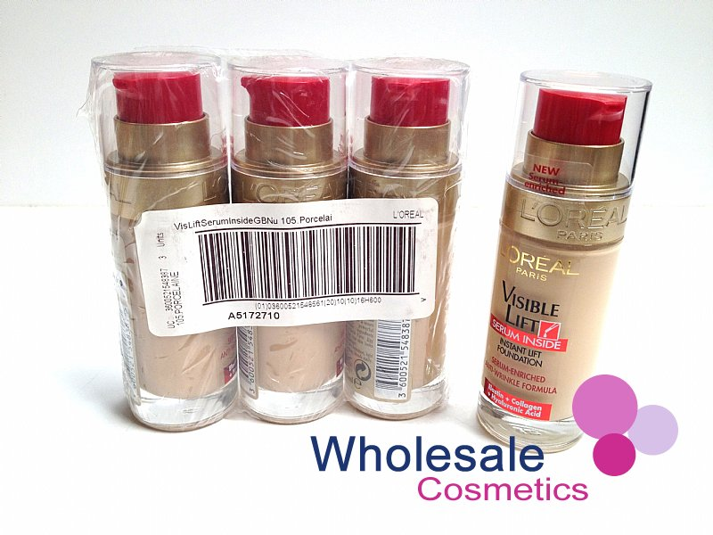 18 x L'Oreal Visible Lift Serum Inside Pump Foundation - ASSORTED