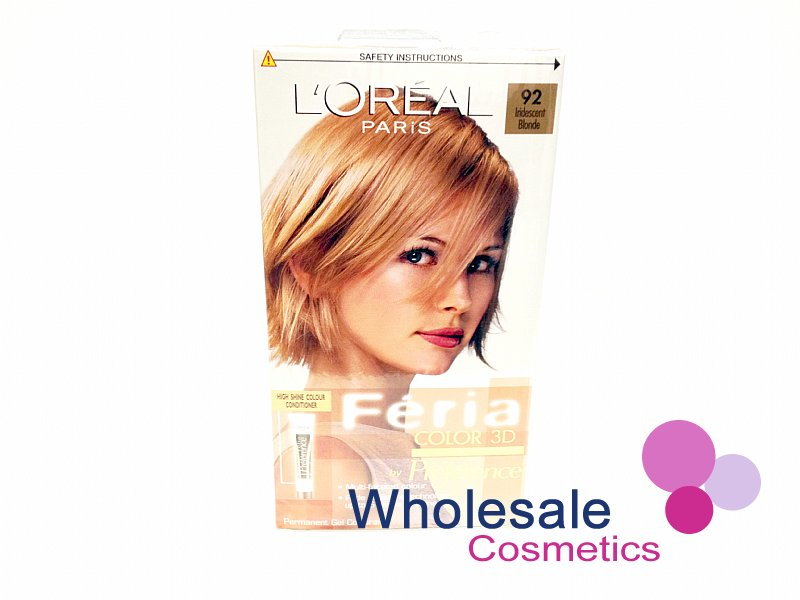 12 x L'Oreal Feria 3D Color by Preference - 92 Iridescent Blonde