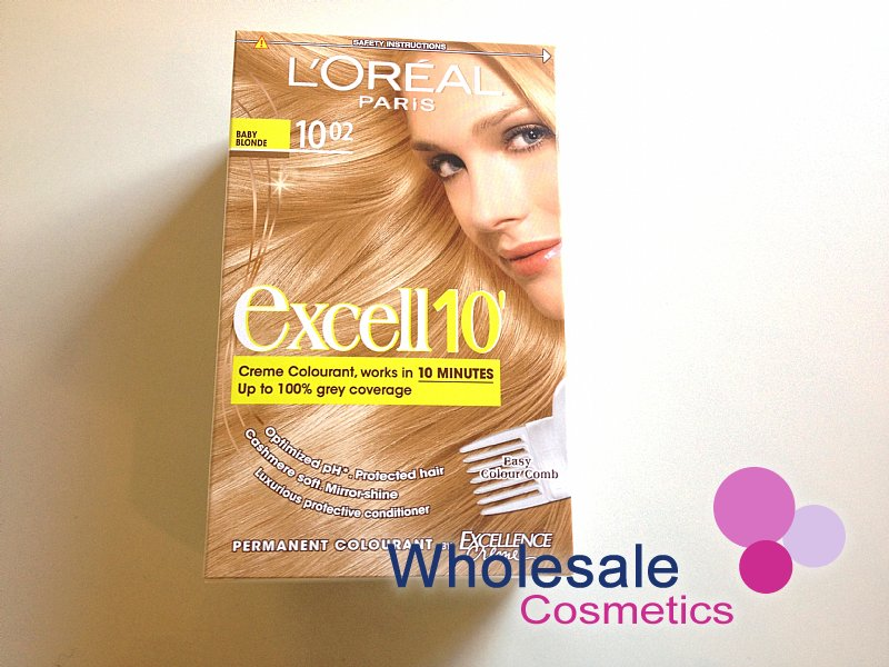 12 x L'Oreal Excell 10' Hair Colourant -10.02-Baby Blonde