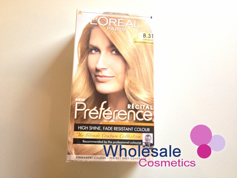 12 x L'Oreal Paris Recital Preference Hair Colour - 8.31- Natural Golden Blonde