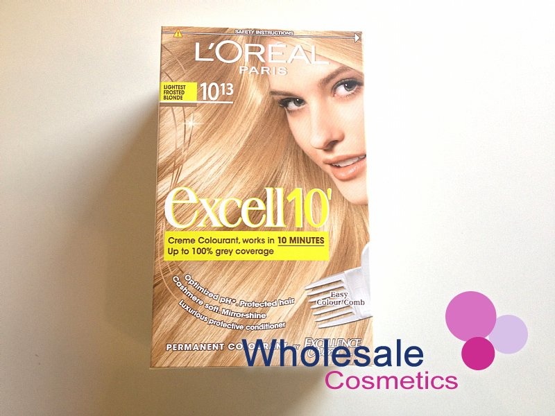 12 x L'Oreal Excell 10' Hair Colourant -10.13-Lightest Frosted Blonde