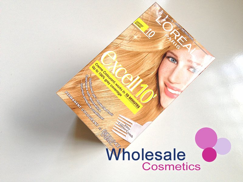 12 x L'Oreal Excell 10' Hair Colourant -10 Lightest Blonde