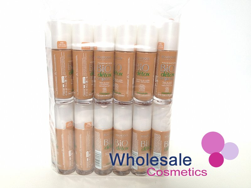 24 x Bourjois Bio Detox Organic Foundation - 58 Dark Bronze