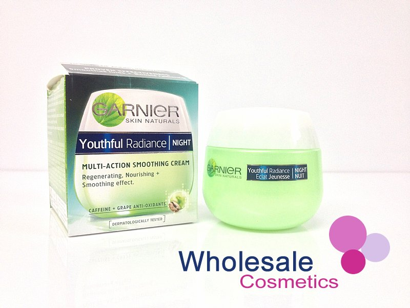 6 x Garnier Youthful Radiance Night Multi-Action Smoothing Cream