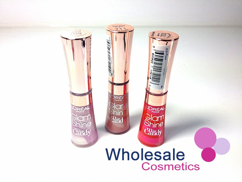 24 x L'Oreal Glam Shine Miss Candy Lipgloss - ASSORTED